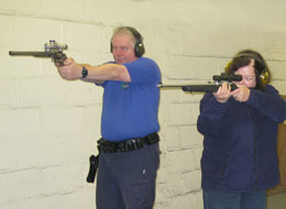 Timed and precision gallery rifle shooting